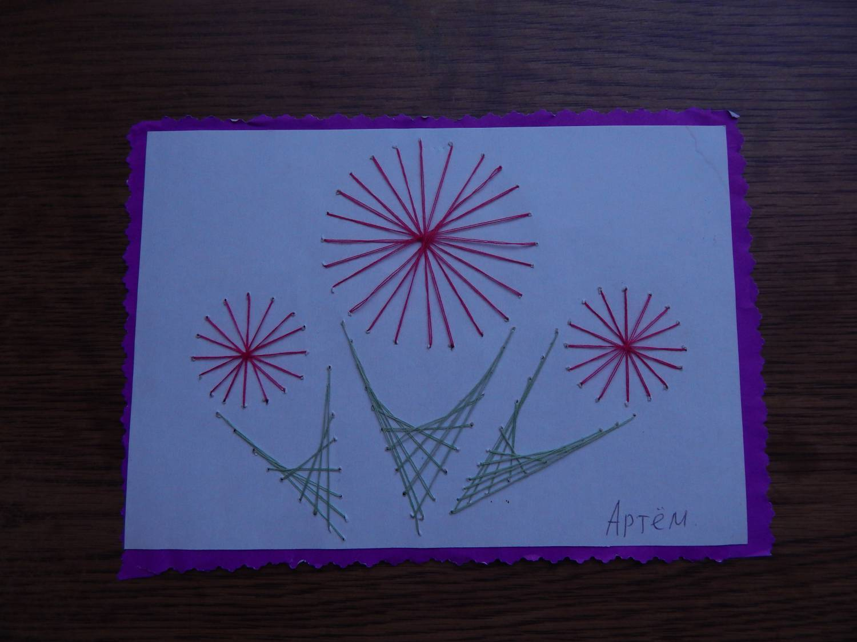 Изонить простая схема цветка